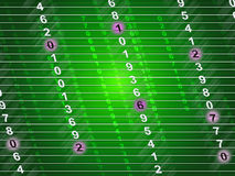 Tech Numbers Means Communicate Communication And Numerals Royalty Free Stock Image