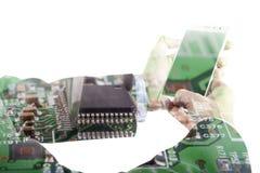 Tech And Phone Stock Photos
