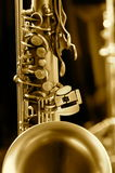 Tech photo of saxophone Royalty Free Stock Photography