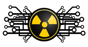 Tech radioactive icon Royalty Free Stock Images