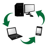 Tech recyclable Stock Photography