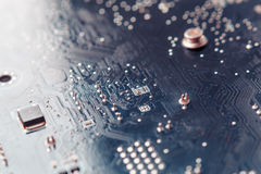 Tech science background. Circuit board. Electronic computer hardware technology. Stock Photos