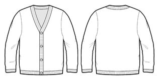 Tech sketch of a cardigan Stock Photo