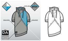 Tech sketch of a sweatshirt Stock Images
