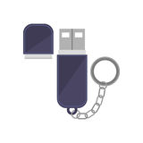 Tech small pen drive device Royalty Free Stock Image