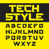 Tech style brutal font. Illustration Royalty Free Stock Photography