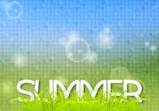 Tech summer design with grass Stock Photos