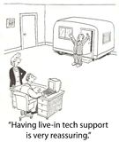 Tech support. Lives in office Royalty Free Stock Photography