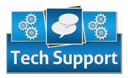 Tech Support Blue Squares On Top Royalty Free Stock Photography