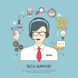 Tech support concept Royalty Free Stock Image