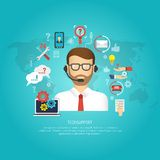 Tech Support Concept stock illustration
