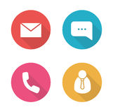 Tech support flat design icons set Royalty Free Stock Images