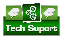 Tech Support Green Squares On Top Royalty Free Stock Photo