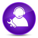 Tech support icon elegant purple round button Royalty Free Stock Image