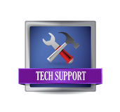 Tech support illustration button Stock Photo