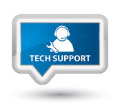 Tech support prime blue banner button. Tech support isolated on prime blue banner button abstract illustration Stock Image