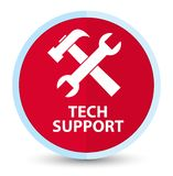 Tech support (tools icon) flat prime red round button. Tech support (tools icon) isolated on flat prime red round button abstract illustration stock illustration