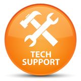 Tech support (tools icon) special orange round button. Tech support (tools icon) isolated on special orange round button abstract illustration Stock Photo