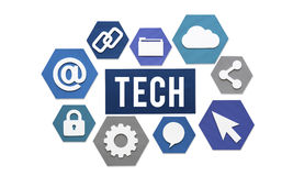 Tech Technology Internet Online Concept Royalty Free Stock Images