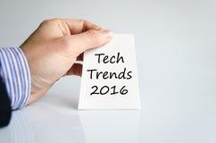 Tech tenderar begrepp för 2016 text Fotografering för Bildbyråer