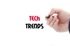 Tech tenderar textbegrepp Royaltyfria Bilder