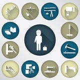 Tech tool spot icon Stock Image