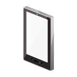 Tech touch tablet camera with buttons Stock Photo