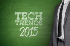 Tech Trends 2015 concept on blackboard. Tech Trends 2015 concept on green blackboard Royalty Free Stock Image