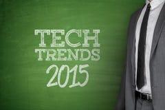 Tech Trends 2015 concept on blackboard. Tech Trends 2015 concept on green blackboard Royalty Free Stock Image