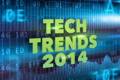 Tech Trends 2014 concept. Green text Royalty Free Stock Photography