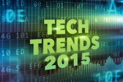 Tech Trends 2015 concept Royalty Free Stock Photos