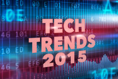 Tech Trends 2015 concept. With red text royalty free illustration