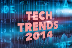 Tech Trends 2014 concept. With red text Stock Images