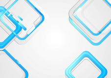 Tech vector background with blue squares Stock Images
