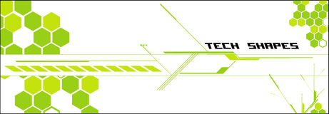 Tech vector composition Royalty Free Stock Images