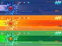 Tech Vectors. Vector - Colorful high tech banners, digital technology concept Stock Photos