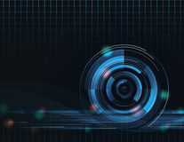 Tech Wave Abstract Background Royalty Free Stock Photos