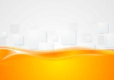 Tech wavy abstract background Royalty Free Stock Photos