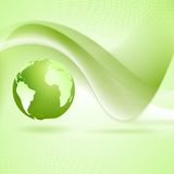 Tech wavy green background Royalty Free Stock Photography