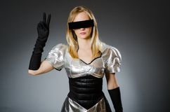 Tech woman Royalty Free Stock Photos