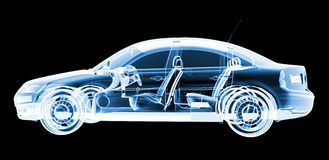 Tech xray car design Stock Photos