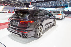 2015 TechArt Porsche Cayenne Turbo. Geneva, Switzerland - March 4, 2015: 2015 TechArt Porsche Cayenne Turbo presented on the 85th International Geneva Motor Show Royalty Free Stock Photos
