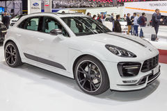 2015 TechArt Porsche Macan Turbo. Geneva, Switzerland - March 4, 2015: 2015 TechArt Porsche Macan Turbo presented on the 85th International Geneva Motor Show Royalty Free Stock Images