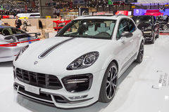 2015 TechArt Porsche Macan Turbo. Geneva, Switzerland - March 4, 2015: 2015 TechArt Porsche Macan Turbo presented on the 85th International Geneva Motor Show Stock Images