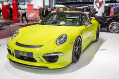 2015 TechArt Porsche 911 Targa 4S. Geneva, Switzerland - March 4, 2015: 2015 TechArt Porsche 911 Targa 4S presented on the 85th International Geneva Motor Show Stock Images