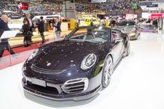 2015 TechArt Porsche 911 Turbos-Cabriolet Stock Afbeeldingen
