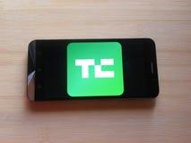 TechCrunch app stock foto's