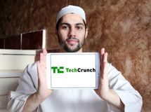 TechCrunch technology company logo Royalty Free Stock Photo