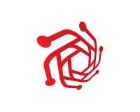 Techfoto Logo Template Design Vector, emblem, designbegrepp, idérikt symbol, symbol Royaltyfri Bild
