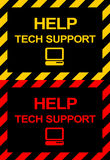 Techical Stützsymbole Stockfotografie